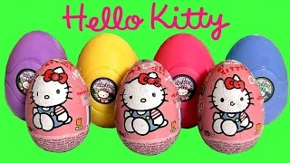 Toychannel Funtoys presents Hello Kitty Surprise Eggs Chocolate 3-pack & Sanrio Hello Kitty playdough 3D Surprise with 6 play-doh eggs. Thx 4 watchin another Unboxing from toychannel DisneyCollector. Please suggest toys n dolls 4 review.  As we all know the iconic japanese cartoon HK is not a cat, she