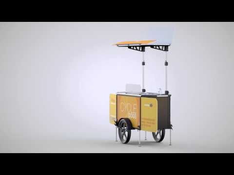 Hot Dog bike trailer