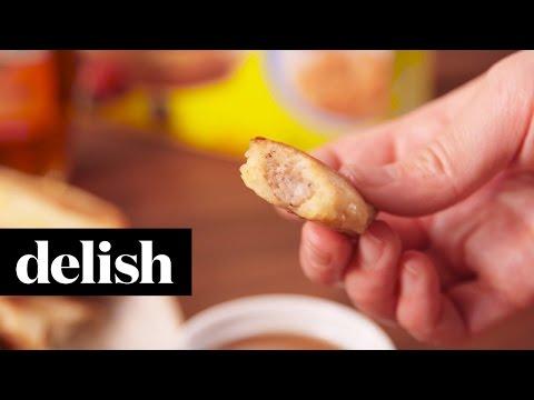 Pancake Sausage Dippers | Delish