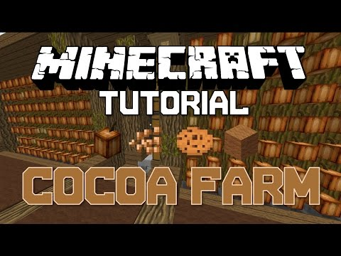[Minecraft Tutorial] [1.8+] Cocoa Bean Farm [Automatic Harvesting] (With Storage)