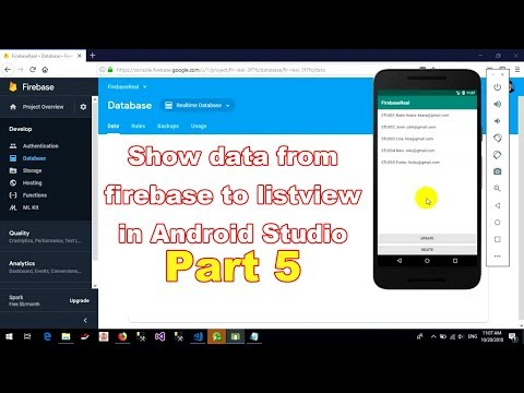 How to show data from firebase to listview in Android Studio - part 5