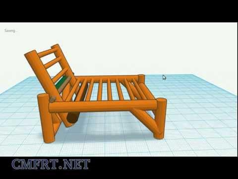 bamboo chair 3D design / bambusz szék terv