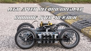 Fastest Lego Technic car powered by BuWizz - speed record breaker over 40 km/h