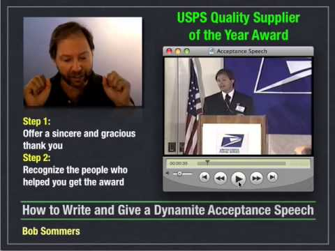 How to Write and Give an Acceptance Speech - 7 of 10