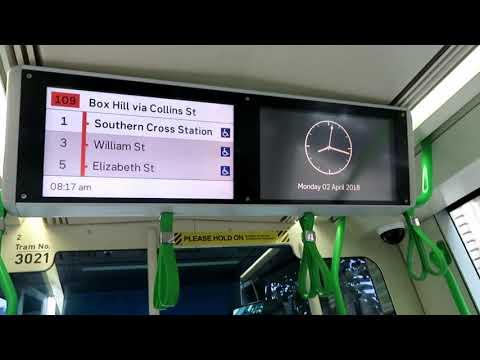 Melbourne Trams Citadis C1 Tram Passenger Information System (VPIS)
