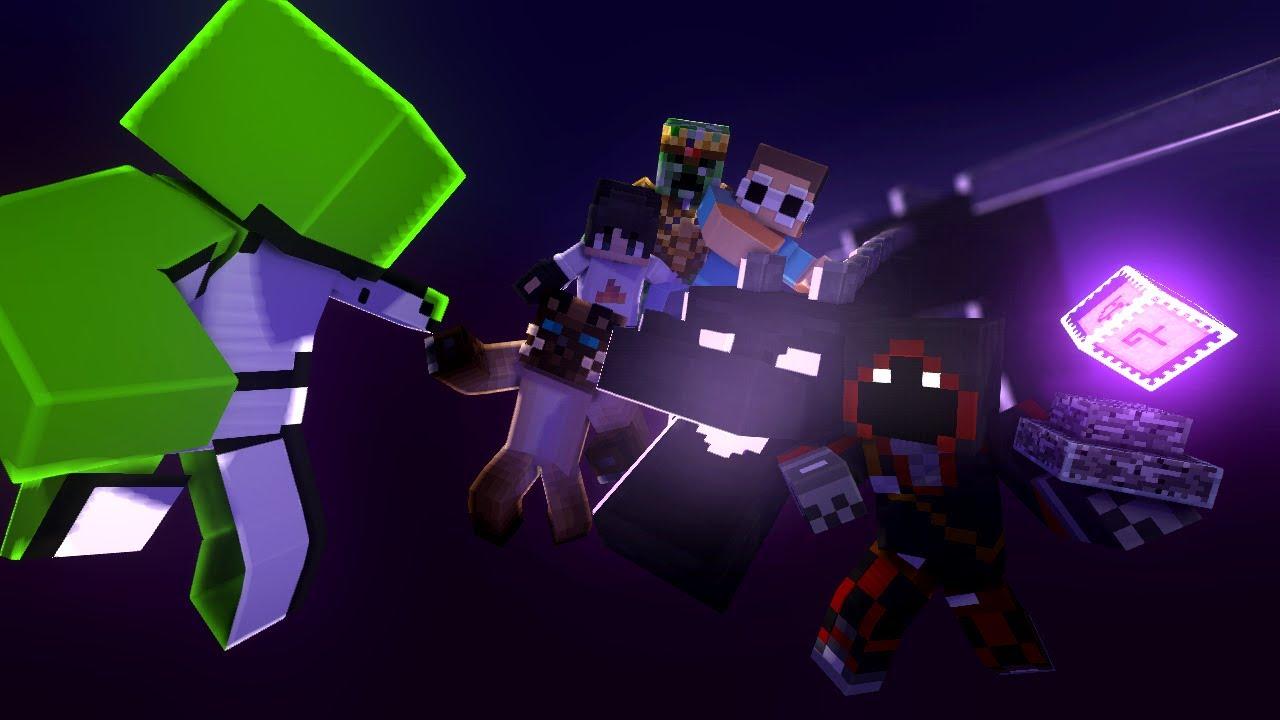 Minecraft Speedrunner vs 5 Hunters Minecraft Animation