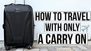 Travel Hacks For Traveling With Only A Carry On! | Ashley Nichole