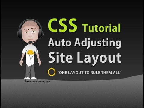 CSS Auto Adjusting Stretch Fit Web Site Layout Tutorial HTML5 Template