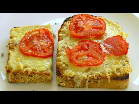 CHEESE on TOAST How to make easy snack food recipe