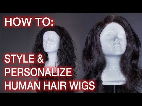 How To Style Human Hair Wigs: Hairline Tweezing, Knot Bleaching, & Curling ft. Beauty Forever Hair