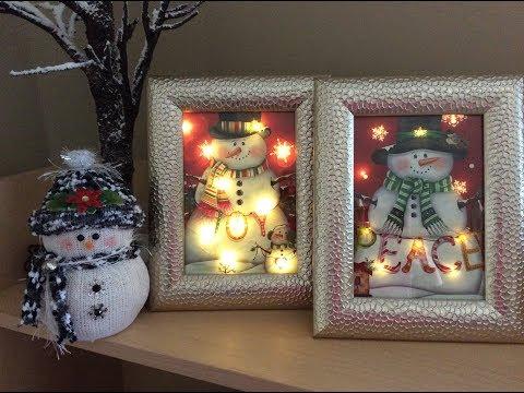 Dollar Tree lighted Christmas Bag DIY! 💗