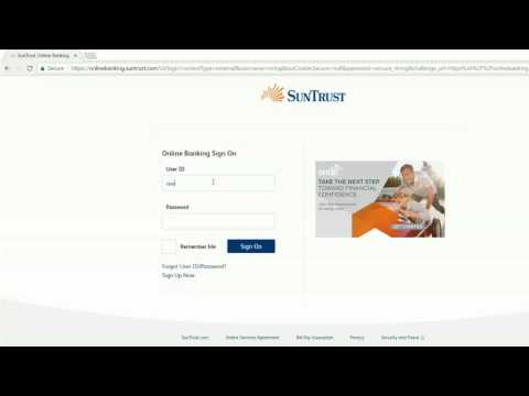 login into SunTrust Bank online banking account united states of america
