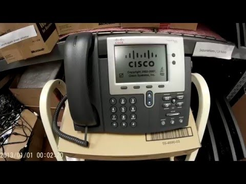 Cisco 7942 IP Phone Un-box and how to find MAC address