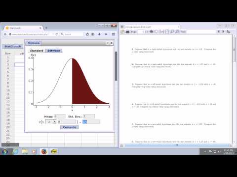 Critical Value using StatCrunch for a Right Tailed Hypothesis Z-Test