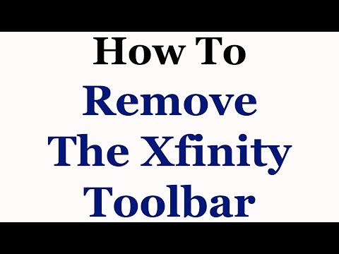 How To Remove The Xfinity Toolbar From Internet Explorer