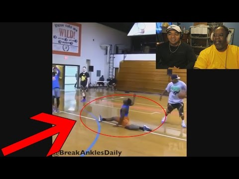 Dad Reacts to Craziest Ankle Breakers in Basketball & Football!