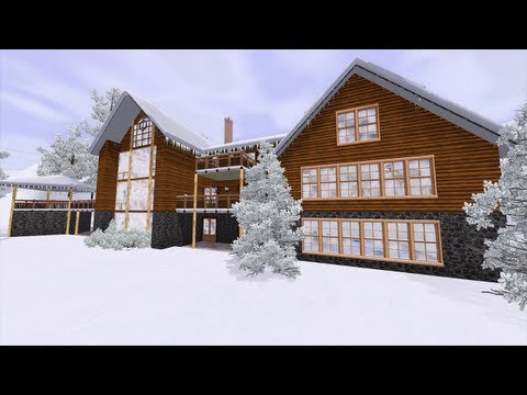 The Sims 3 - Building Winter Retreat