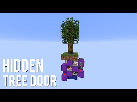 Redstone: Hidden Tree Door [Tutorial]