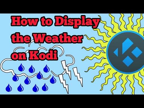How to display the weather on KODI top left corner