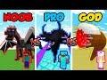 Minecraft NOOB Vs PRO Vs GOD SUPER MOB BOSS BATTLE In Minecraft Animation