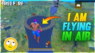 I Am Flying In Air With Unlimited Glow Walls *Must Watch* Funny Gameplay - Garena Free Fire