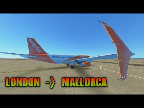 Infinite Flight Global - EasyJet A319 - London Gatwick to Palma De Mallorca