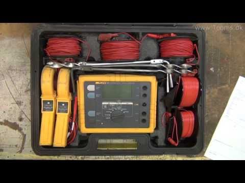 Earth ground testing with Fluke 1625