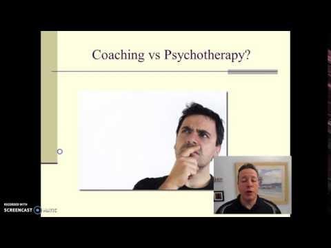 Coaching vs psychotherapy