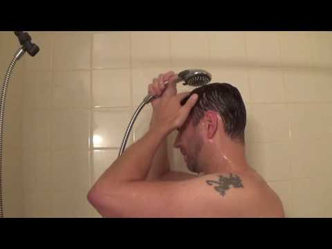 How to wash your hair system in the shower
