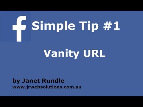 1. Facebook Vanity URL - What it is and How to create one.