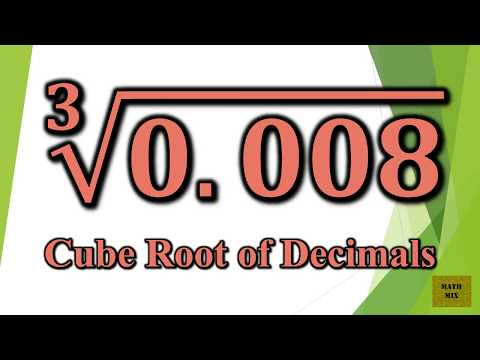 Cube Root of Decimals
