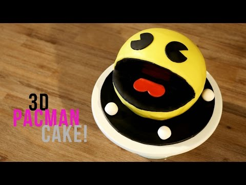 How to make a 3D Pacman Cake! - Bake Bites