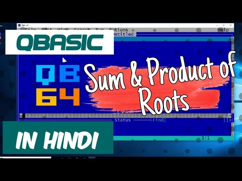 QBasic Program To Input Three Numbers After That Find Sum And Product Of Roots