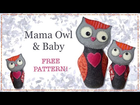 Felt owl tutorial including FREE PATTERN with Lisa Pay