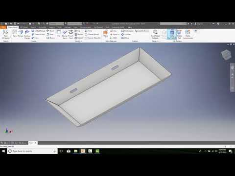14-19 Creating the Flat Patterns of Sheet Metal Components