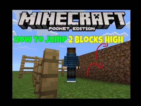 Minecraft P.E. - How to Jump 2 Blocks High