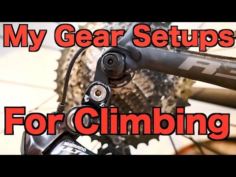 My Gear Setups For Climbing Steep Hills