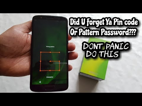 Moto G6 Remove pin Code /Pattern Lock/ Password Security/FingerPrint Lock/Face Recognition Lock