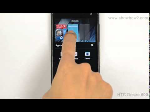 HTC Desire 600 - How To Add Apps In To The Home Screen