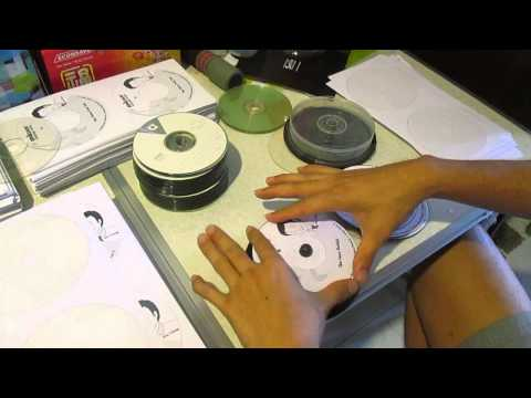 How to stick a printed cd or dvd label sticker onto the cd or dvd