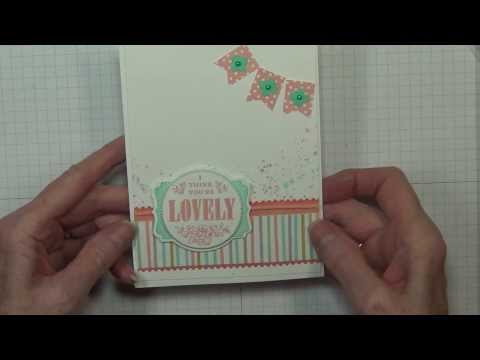You're Lovely Card Tutorial