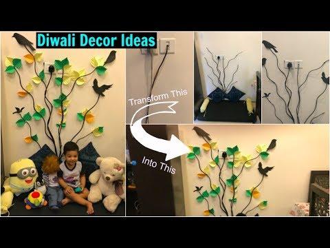 Easy Diwali Decor Ideas | Easy Wall Decor using No Paint | Organizopedia