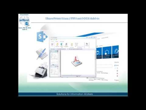 SharePoint Scan, PDF and OCR Converter. Manual and automatic properties recognition