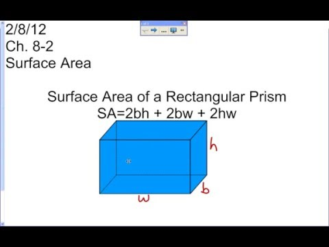 Lesson on Finding Surface Area of a Rectangular Prism Using the Formula