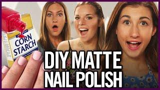 DIY Matte Nail Polish using Corn Starch? - Makeup Mythbusters ft Maybaby and PrimroseMakeup