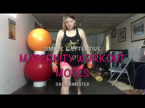Simple and Effective 3rd Trimester Maternity Pregnancy Workout Moves 3/8