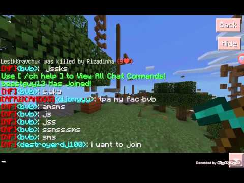 0.13.1] Minecraft pe] faction server promotion.