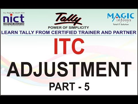 LIVE DATA - ITC ADJUSTMENT ENTRY IN TALLY ERP 9 UNDER GST -IN HINDI PART 5
