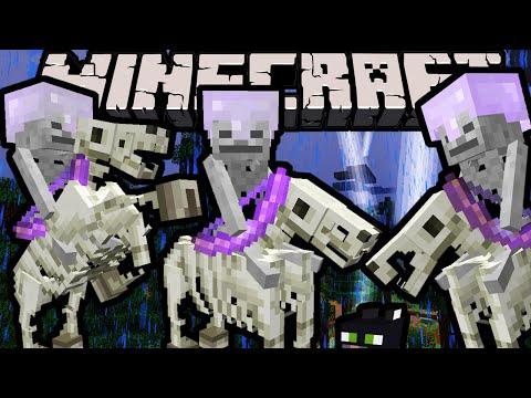 Minecraft 1.9 Snapshot: Spooky Skeleton Horsemen Trap, Tame Undead Horses, Smart Skeletons, Farm Fix