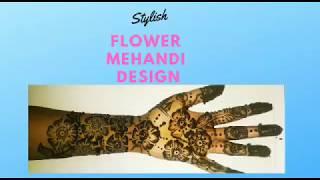 Stylish flower Mehandi design